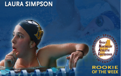 Simpson named GNAC women's swimming & diving rookie of week for 5th time