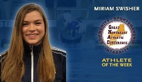 Swisher named GNAC women's Swimming & Diving athlete of week for third time