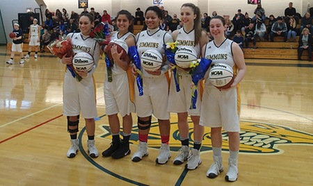 Simmons basketball falls on Senior Day to Suffolk, 57-44