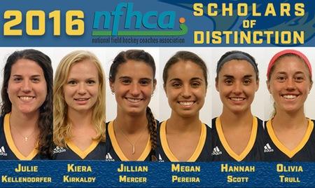 Six field hockey athletes named NFHCA Scholars of Distinction