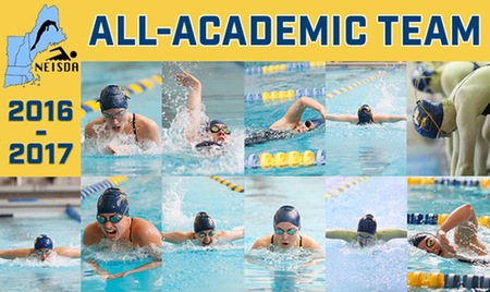 Swimming & diving lands 11 on NEISDA All-Academic Team