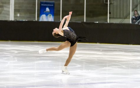 Baga lands combination, balancing coursework with international skating career