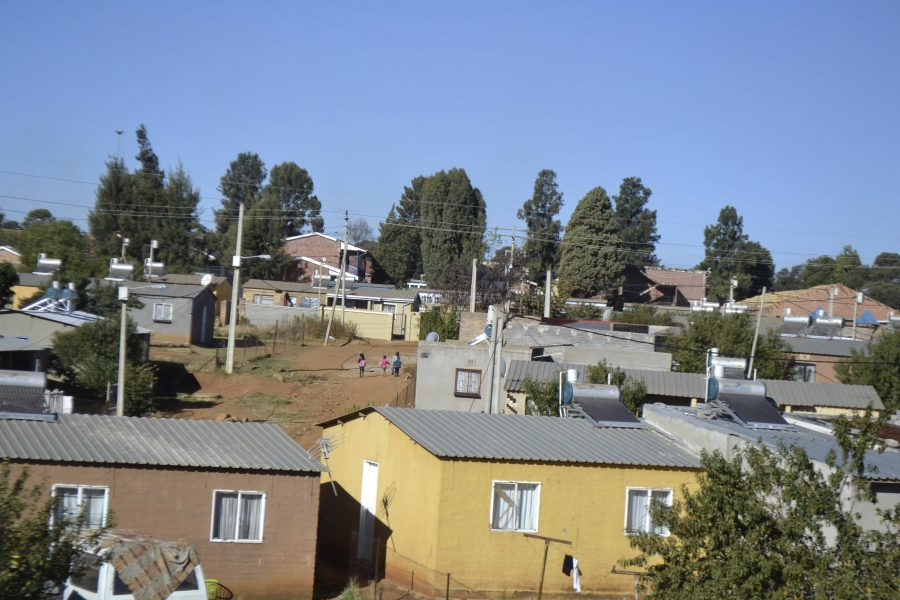 Government subsidized housing in Soweto (Photo by Sarah Kinney)