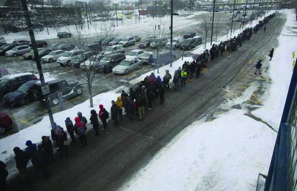 people waiting for trains pic MBTA by the Boston Globe