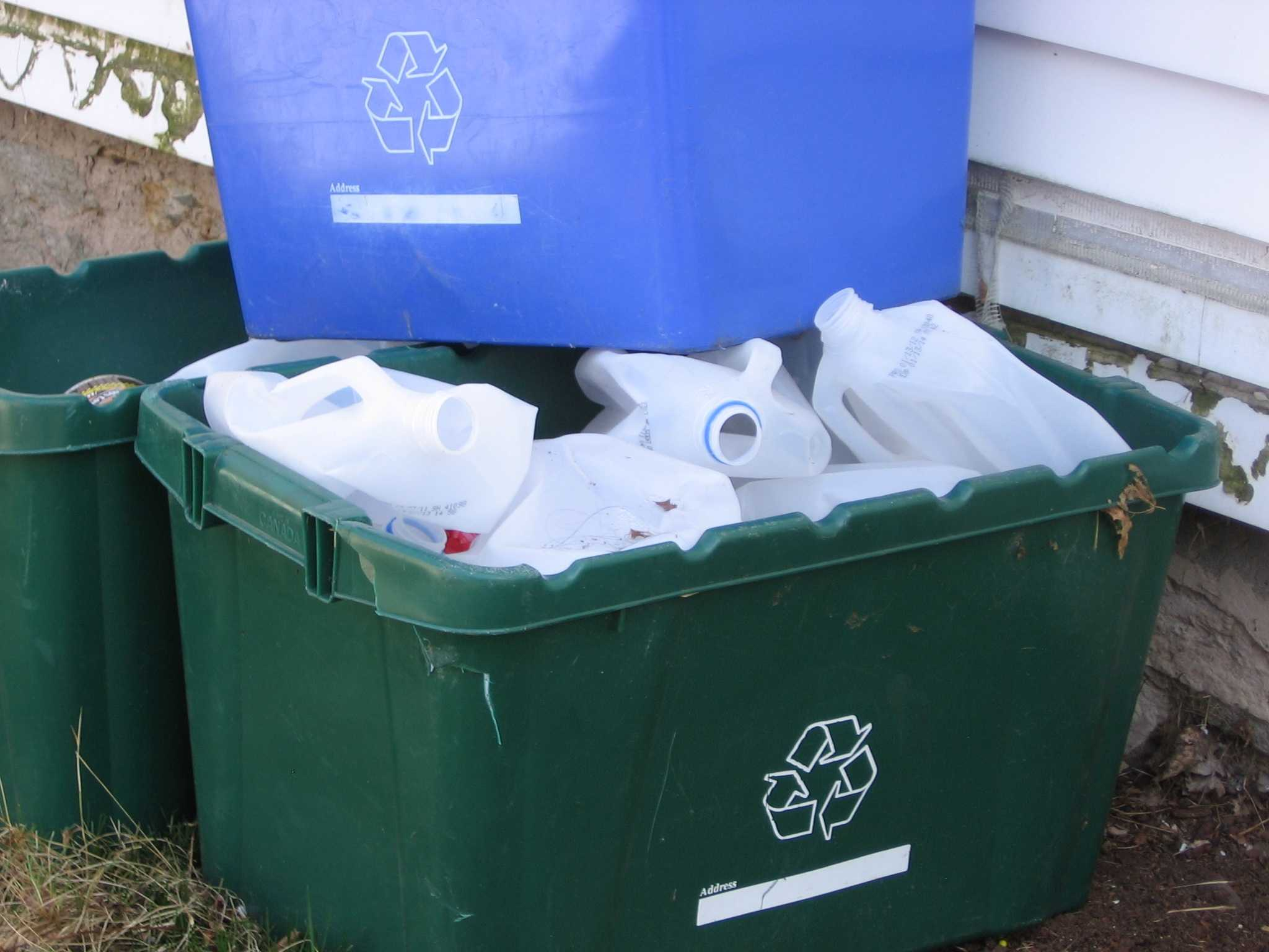 pic of recycling bins