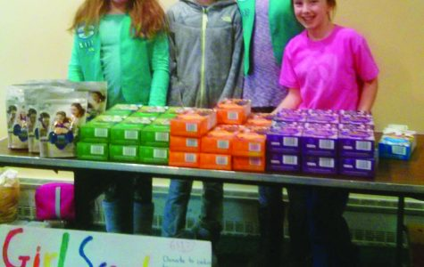 Thin mints and valuable lessons: Girl Scouts visit Simmons College