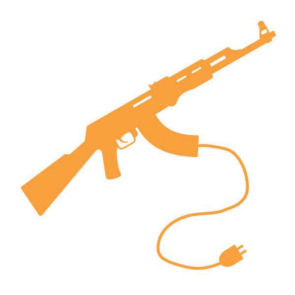 pic of a gun with an electrical plug