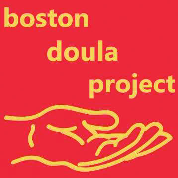 logo for the boston doula project