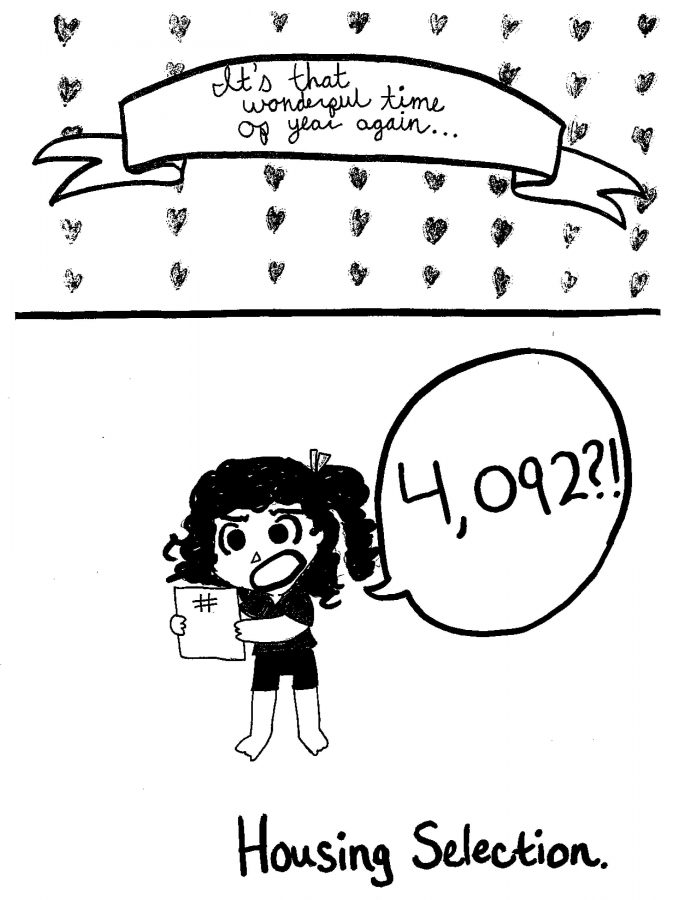 comic of someone getting an undesirable housing selection lottery number