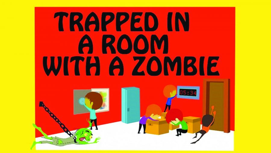 Trapped in a Room With a Zombie promotional art