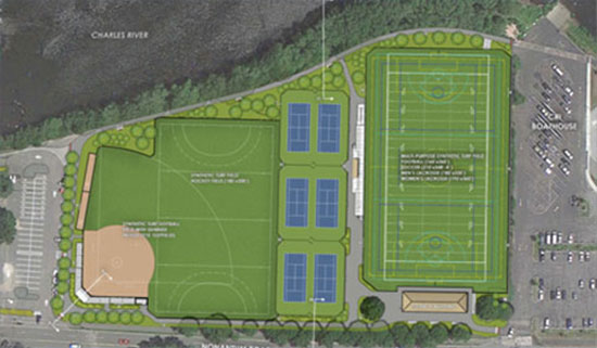 Daly Field after planned renovations