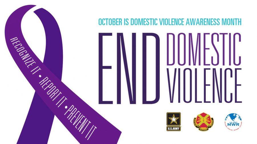 The purple ribbon symbolizing Domestic Violence Awareness