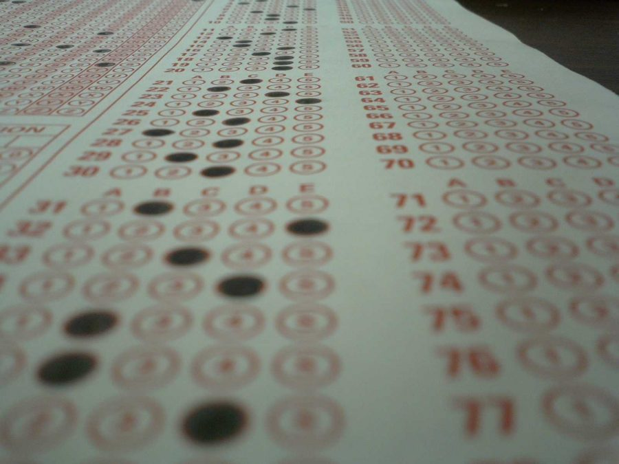 Scantron exam sheet