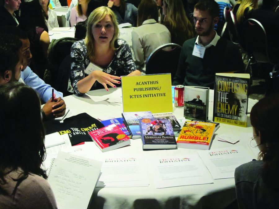 A table at last year's event
