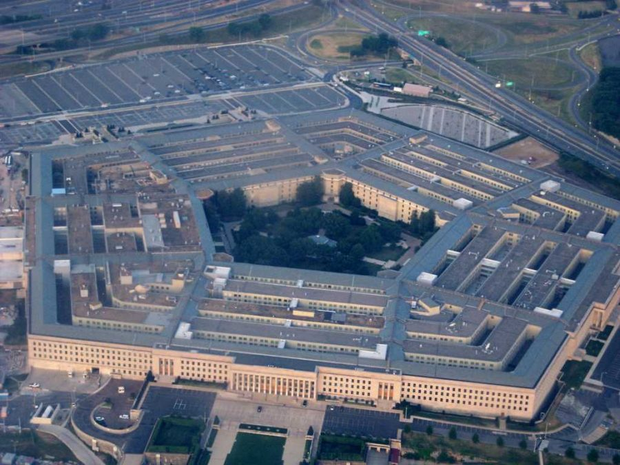 An aerial view of the Pentagon