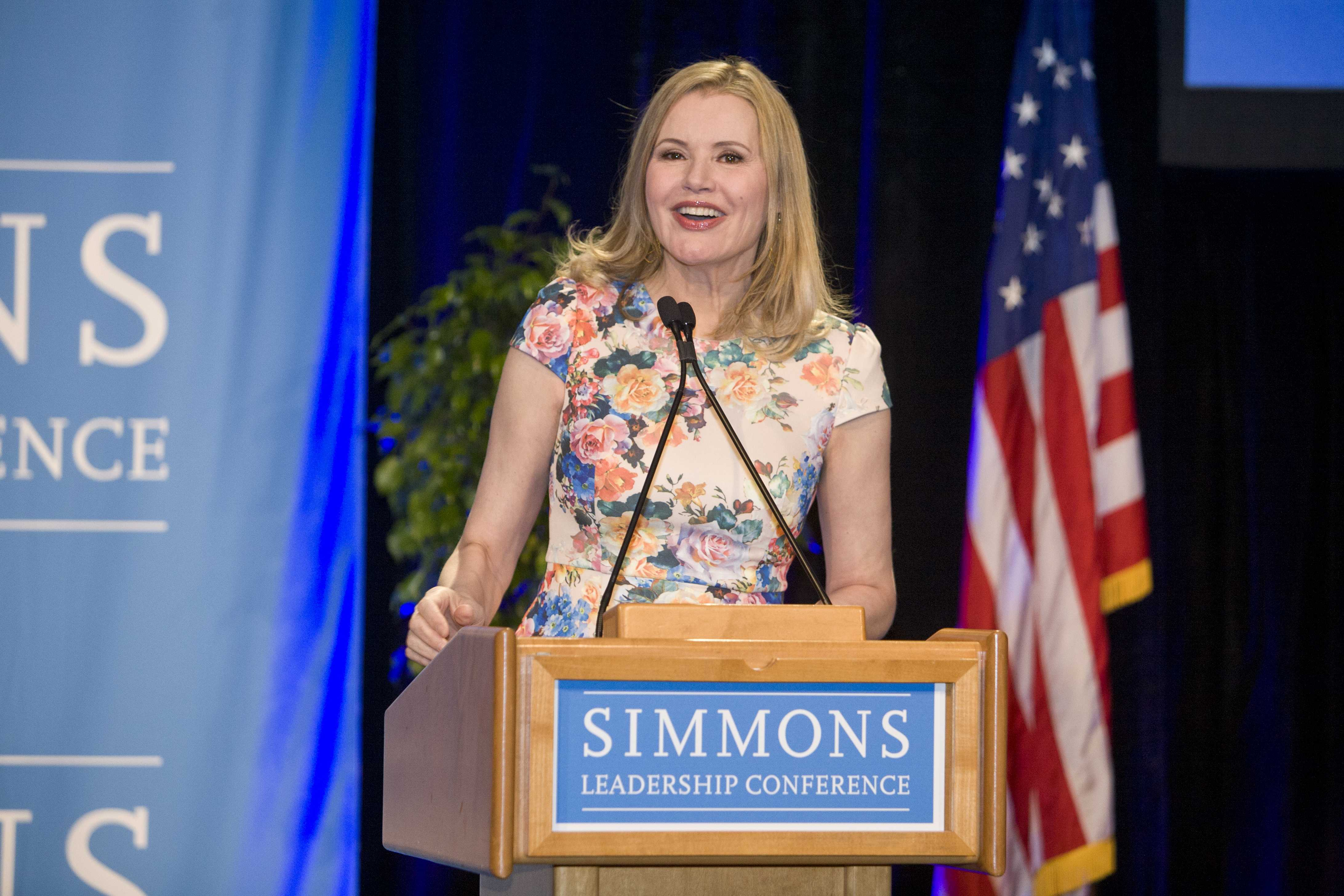 Geena Davis speaks at the conference