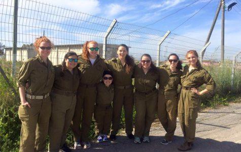 The Simmons team on the Tel Aviv army base