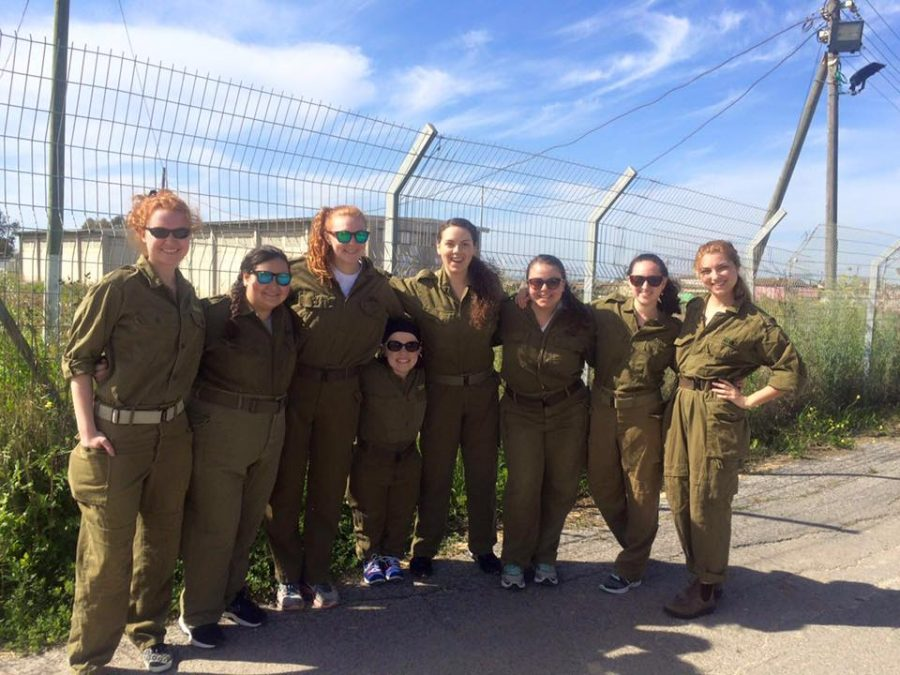 The Simmons team on the Tel Aviv army base