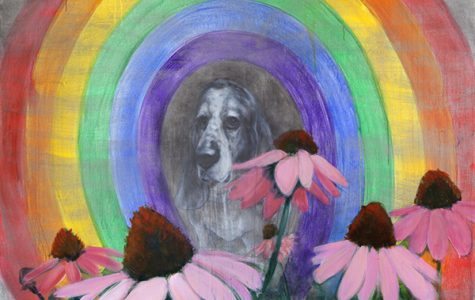 Portrait with Coneflowers and Rainbow. Source: Trustman Art Gallery website