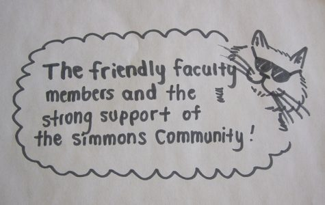 What are Simmons students thankful for?