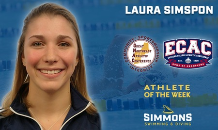 Simpson is Women's Swimming & Diving Athlete of the Week