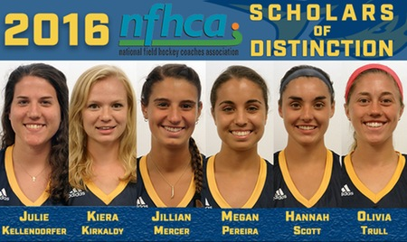Six field hockey athletes named NFHCA Scholars of Distinction