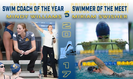 Williams named NEISDA Women's Swimming Coach of the Year; Swisher Named Swimmer of the Meet