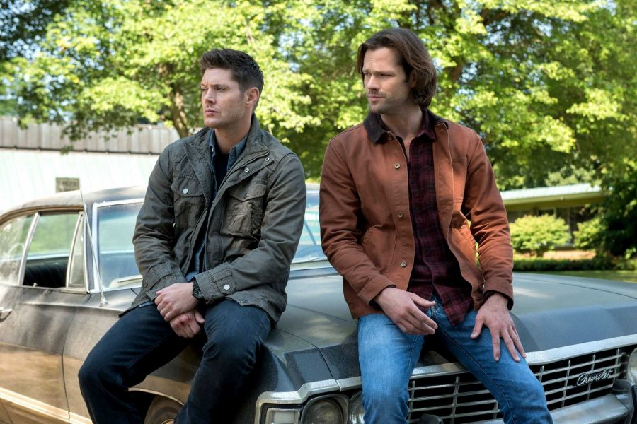 Supernatural -- Lost and Found  -- Image Number: SN1301a_0112r.jpg -- Pictured (L-R): Jensen Ackles as Dean and Jared Padalecki as Sam -- Photo: Dean Buscher/The CW -- ©2017 The CW Network, LLC All Rights Reserved.