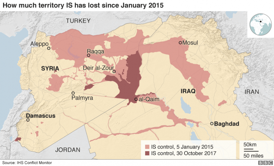 The Islamic State loses territory in Iraq