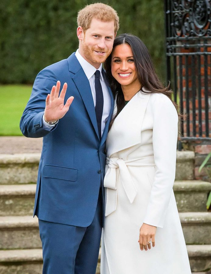 11/27/2017 - Prince Harry and Meghan Markle in the Sunken Garden at Kensington Palace, London, after the announcement of their engagement. (Photo by PA Images/Sipa USA) *** US Rights Only ***