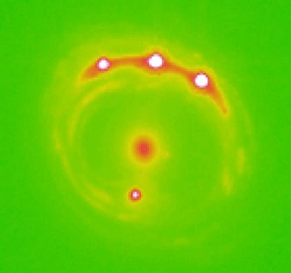 First evidence of planets outside the Milky Way