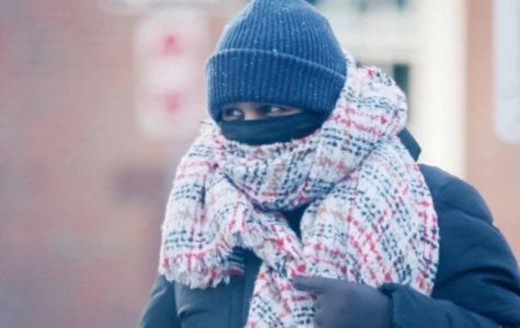 A pedestrian in Boston on January 31st, 2019.