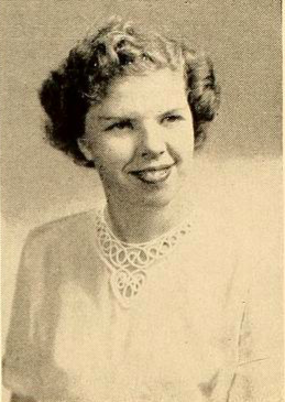Jean Hall pictured in the 1950 'Microcosm' Yearbook