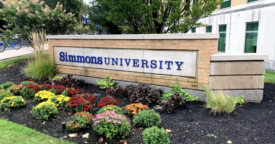Simmons University Sign