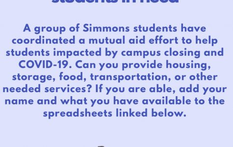 Mutual aid for Simmons students