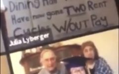 A screenshot of Lyberger's sign, courtesy of @paysimmonsworkers on Instagram.