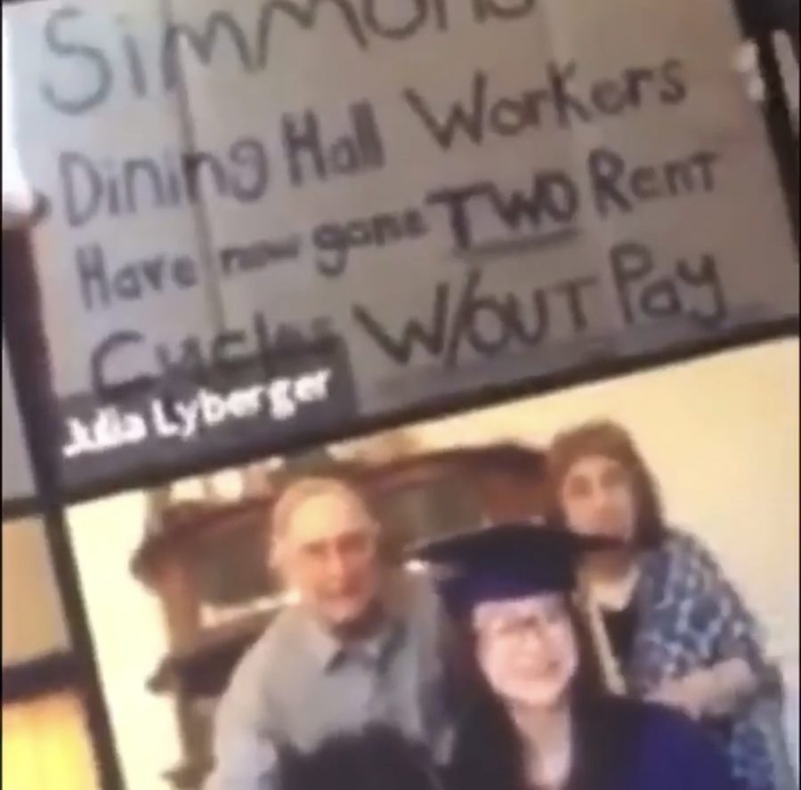 A screenshot of Lybergers sign, courtesy of @paysimmonsworkers on Instagram.