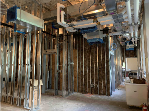 Construction of the Student Media Center, courtesy of Simmons