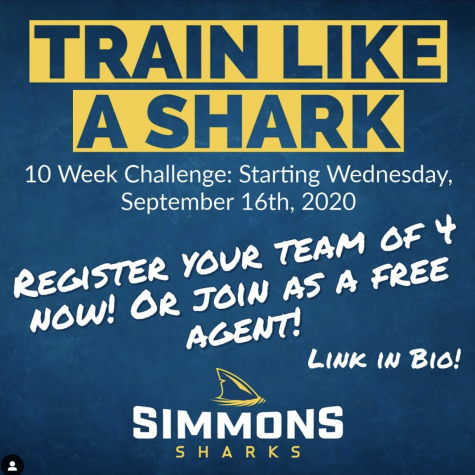"Instagram post from @simmonssharks advertising ""Train Like A Shark."""