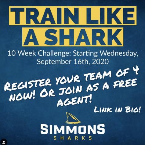 Instagram post from @simmonssharks advertising Train Like A Shark.