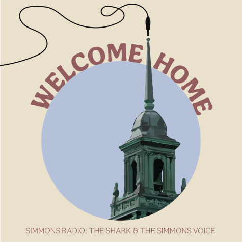 """Welcome Home"" is a production of Simmons Radio and The Simmons Voice. Artwork by Carly Dickler."