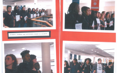 Pictures of the 10 Demands protest in the #SimScenes zine made to document the event. Image courtesy of the Simmons University Archives