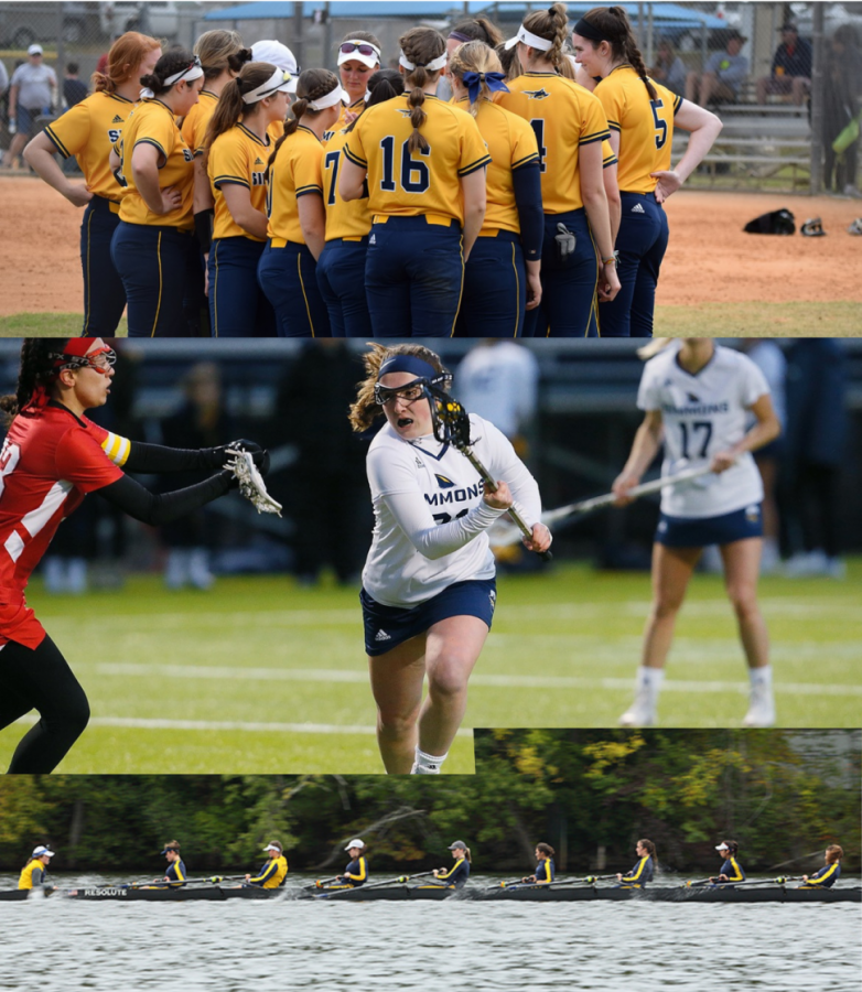 Simmons+softball%2C+lacrosse%2C+and+crew+teams.+Images+courtesy+of+the+Simmons+Athletics+Department.+