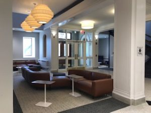 Updates to the first floor of the Main College Building. Image courtesy of Simmons University.