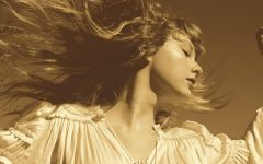 The album cover of Fearless (Taylor's Version). The re-recordings cover is an ode to the original Fearless album art, which features Swift doing a similar iconic hair flip.